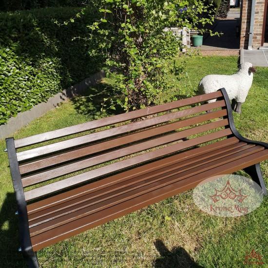 Gartenmöbel Gartenbank Gusseisen und Holzauflage 700