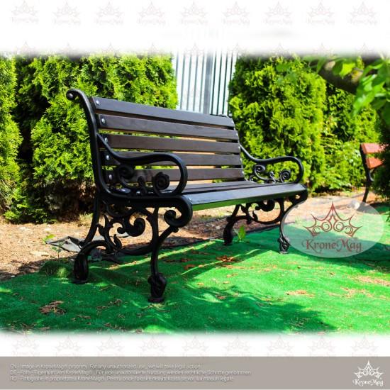 Gartenbank KORONA  mit Rückenlehne