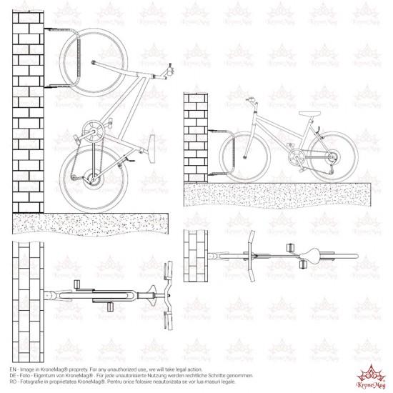 Wand Fahrradständer, Fahrradparker P2