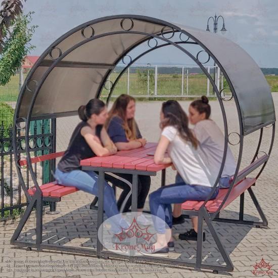 Gartenmöbel Sitzgruppe mit Dach OKLAHOMA-OR
