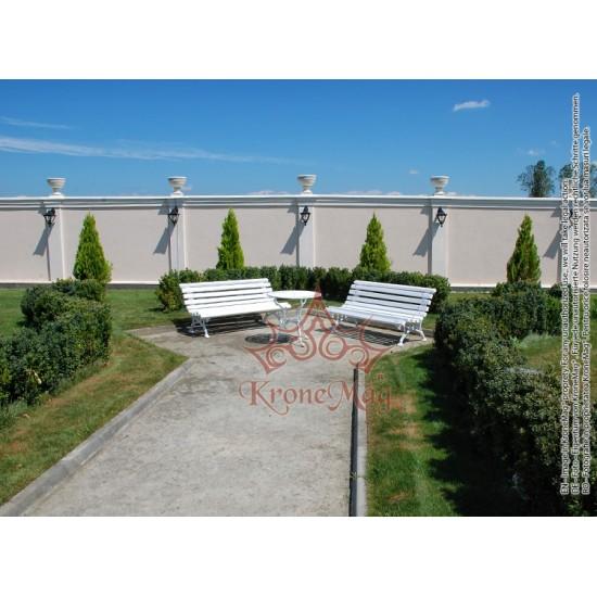 Gartenmöbel Gartenbank Gusseisen und Holzauflage 701