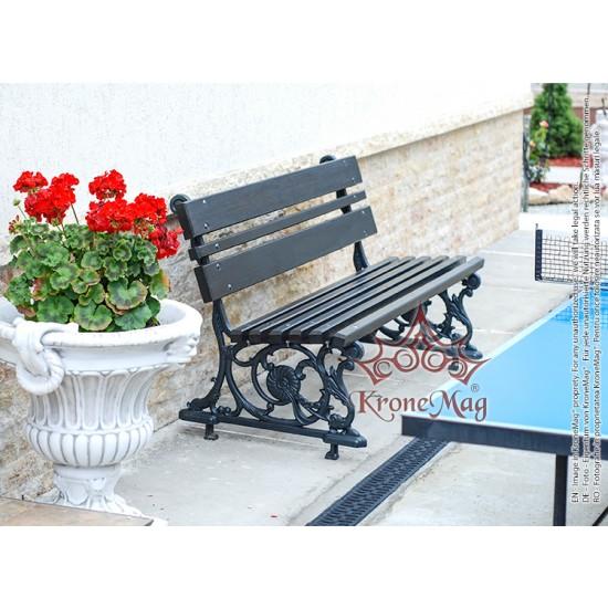 Gartenmöbel Gartenbank Gusseisen und Holzauflage 705