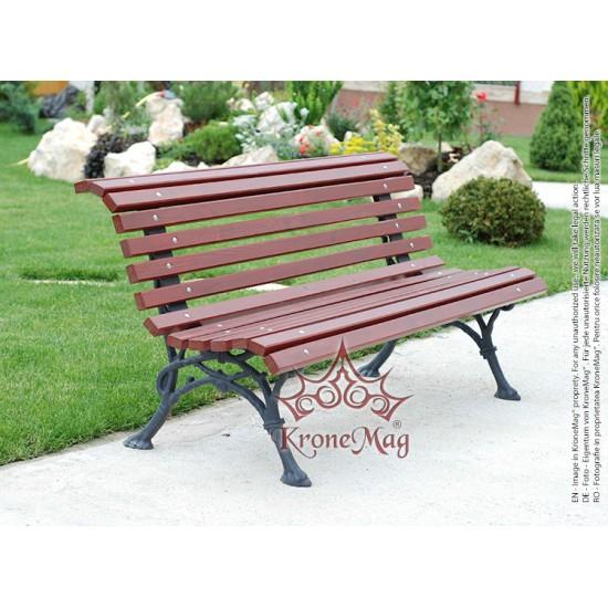 Gartenmöbel Gartenbank Gusseisen und Holzauflage DUBLIN-FR