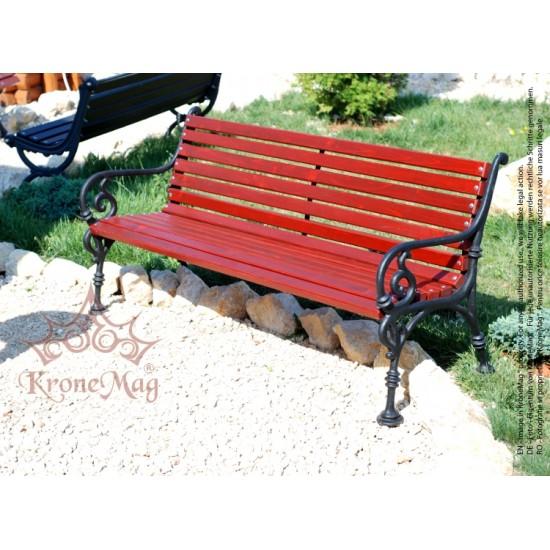 Gartenmöbel Gartenbank Gusseisen und Holzauflage VARNA 3