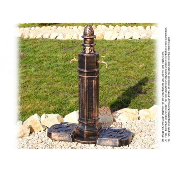 Gartenbrunnen, Standbrunnen aus Aluminium LISABONA DUO