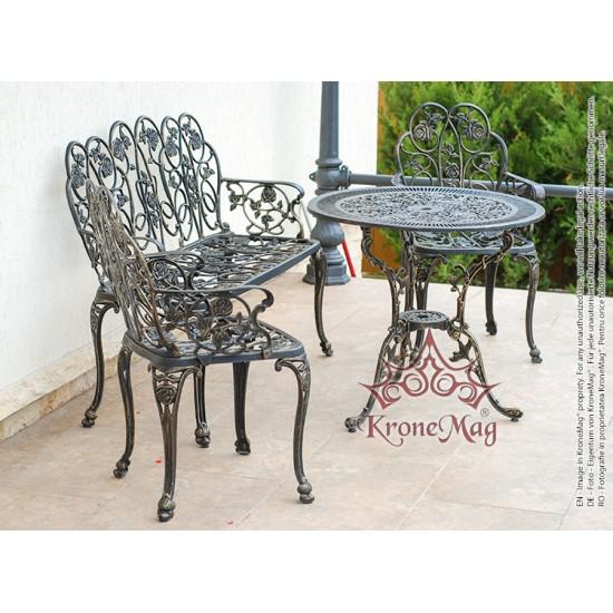 Aluminium Gartengarnitur, Terrassenmöbel Set ROSALIA 2FB