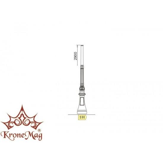 Gusseisen Kandelaber für Außenbeleuchtung 1H-O1