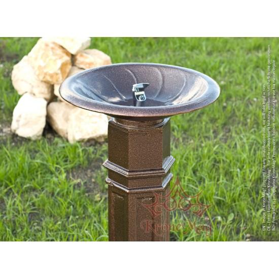 Trinkbrunnen, Standtrinkbrunnen aus Aluminium DURBAN 2A für den Außenbereich