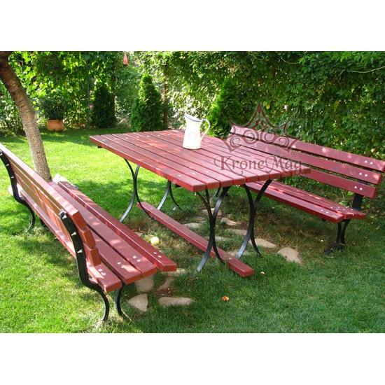 Gartenmobel Set Aus Alu Und Holz Madrid Ar Kronemag