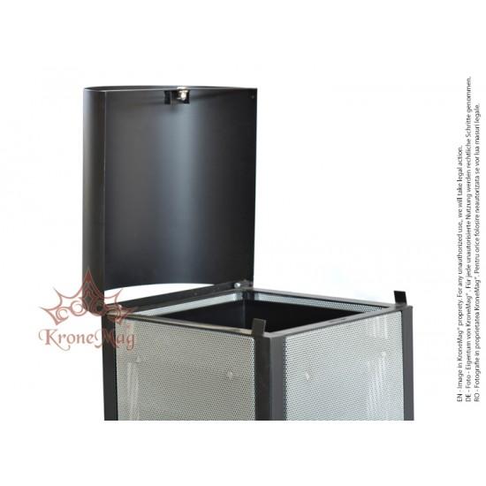 Abfallbehälter für Außen URBAN 9C.P mit Schutzdach