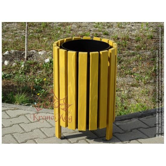 Abfallbehälter für Parkanlagen mit Holzverkleidung URBAN 6